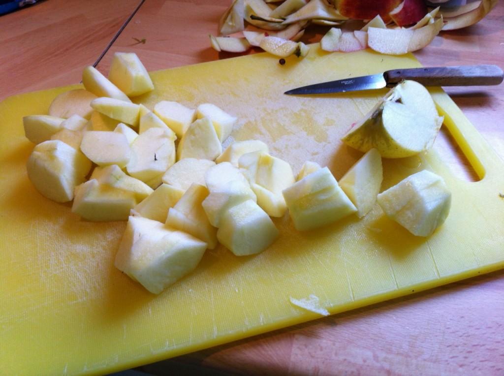 Boudin aux pommes : Etape 1