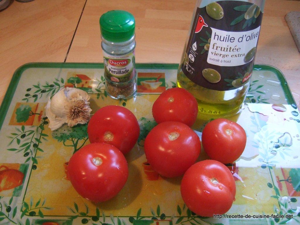 Tomates poêlées à la provençale : Etape 1