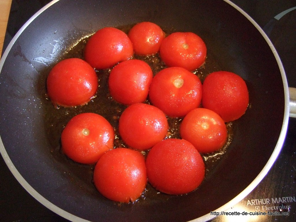 Tomates poêlées à la provençale : Etape 4