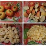 Compote de pomme : Couper les pommes