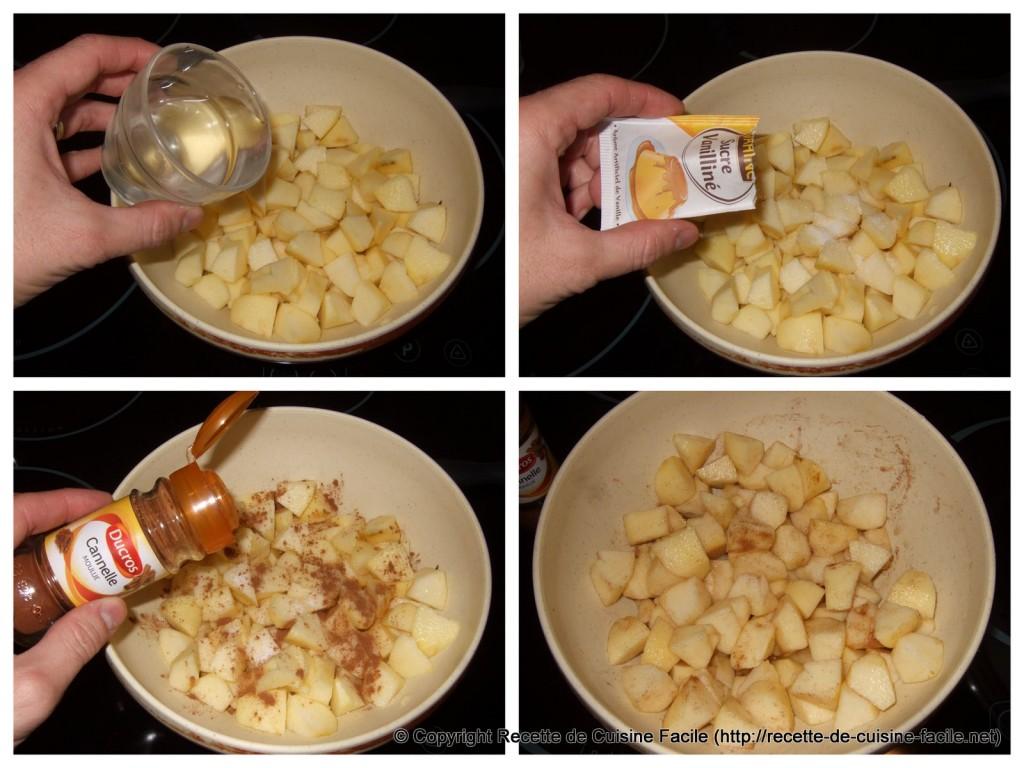 Compote de pomme (express) : Préparer les pommes