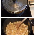 Compote de pomme (traditionnelle) : Cuire les pommes