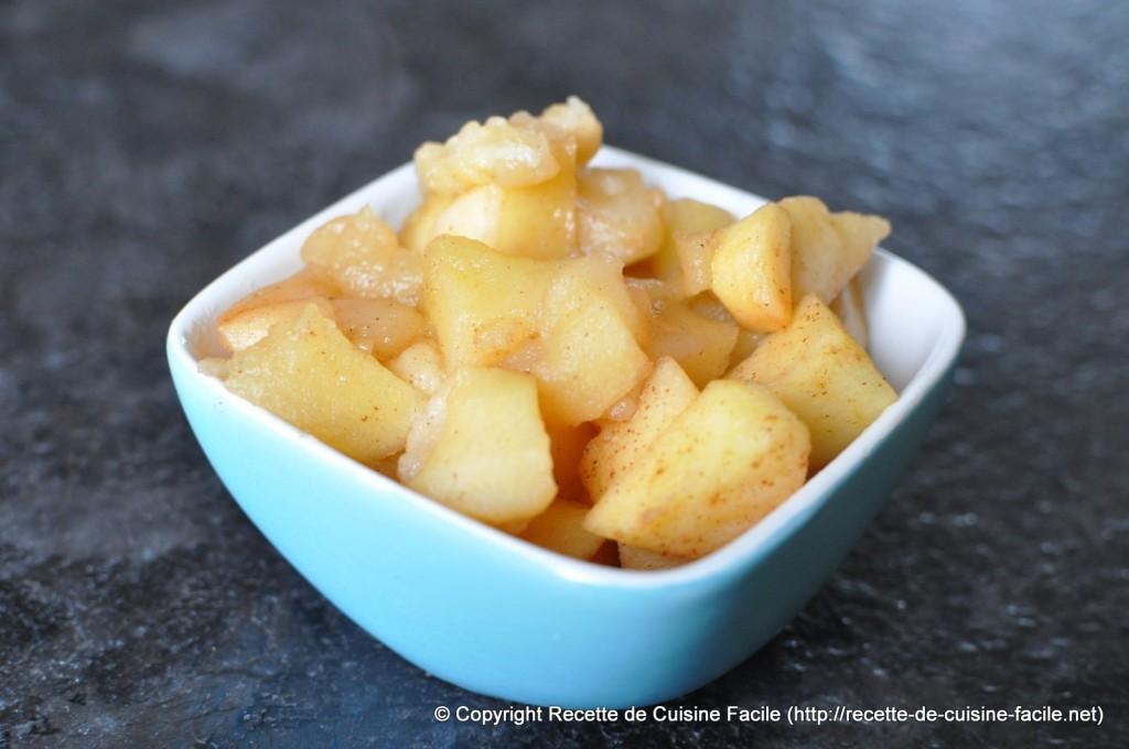 Compotée de pomme : Pommes cuites en morceaux