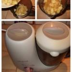 Compote de pomme : Mixer les pommes