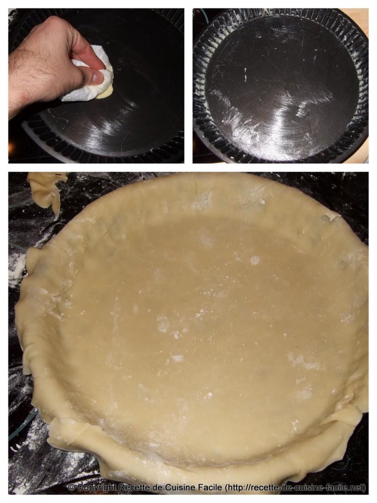Tarte aux pommes : Mettre la pâte dans le moule