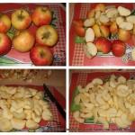 Tarte aux pommes : Couper les pommes
