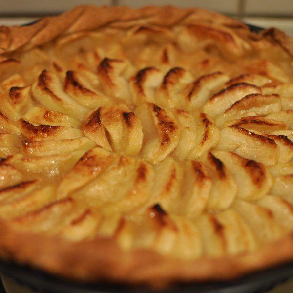 Tarte aux pommes classique avec de la compote de pomme for Cuisine facile